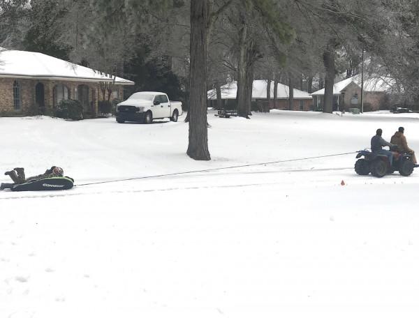 Louisiana tubing, winter style