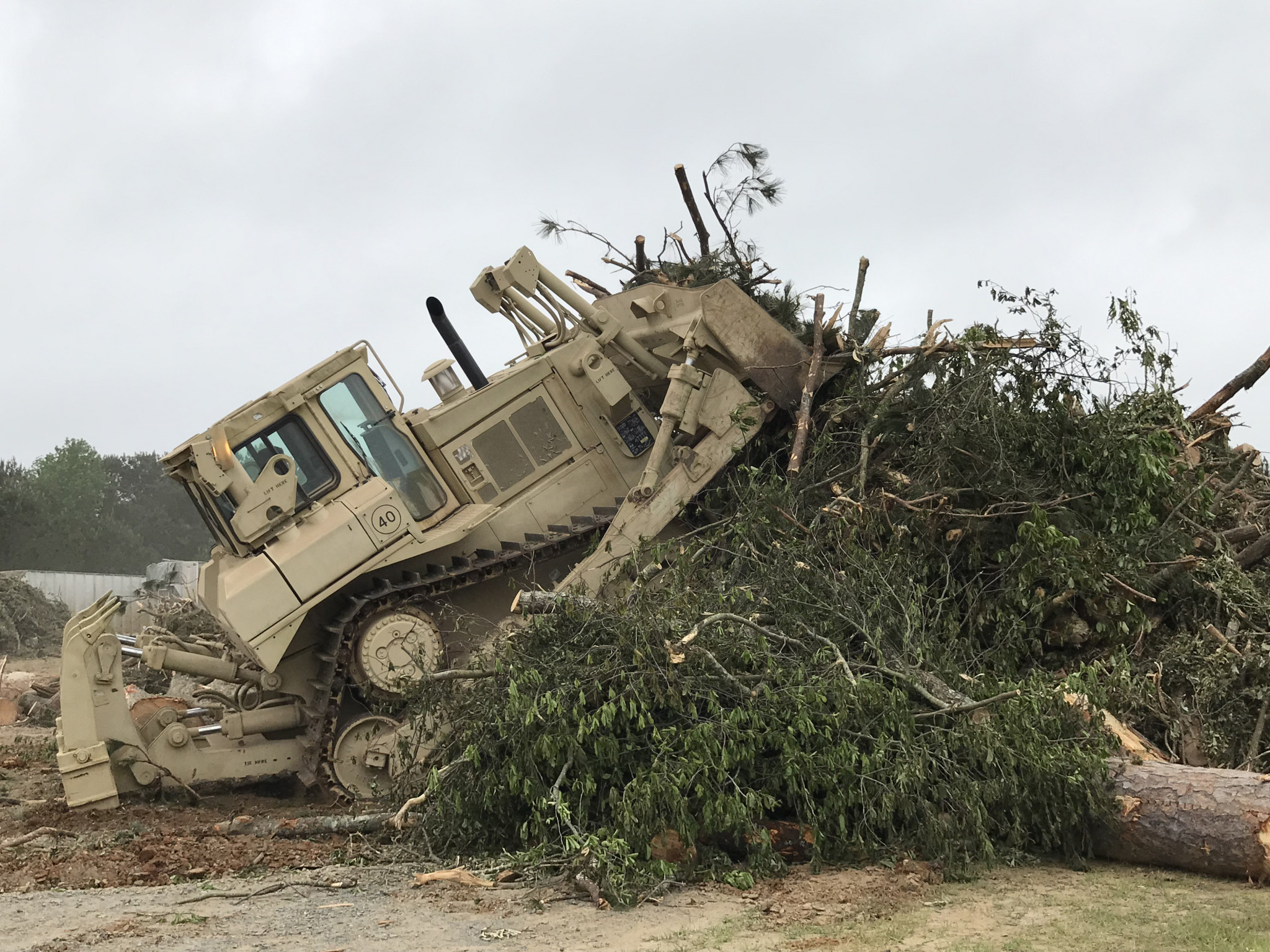 National Guard at the Lincoln Parish landfill — April 29