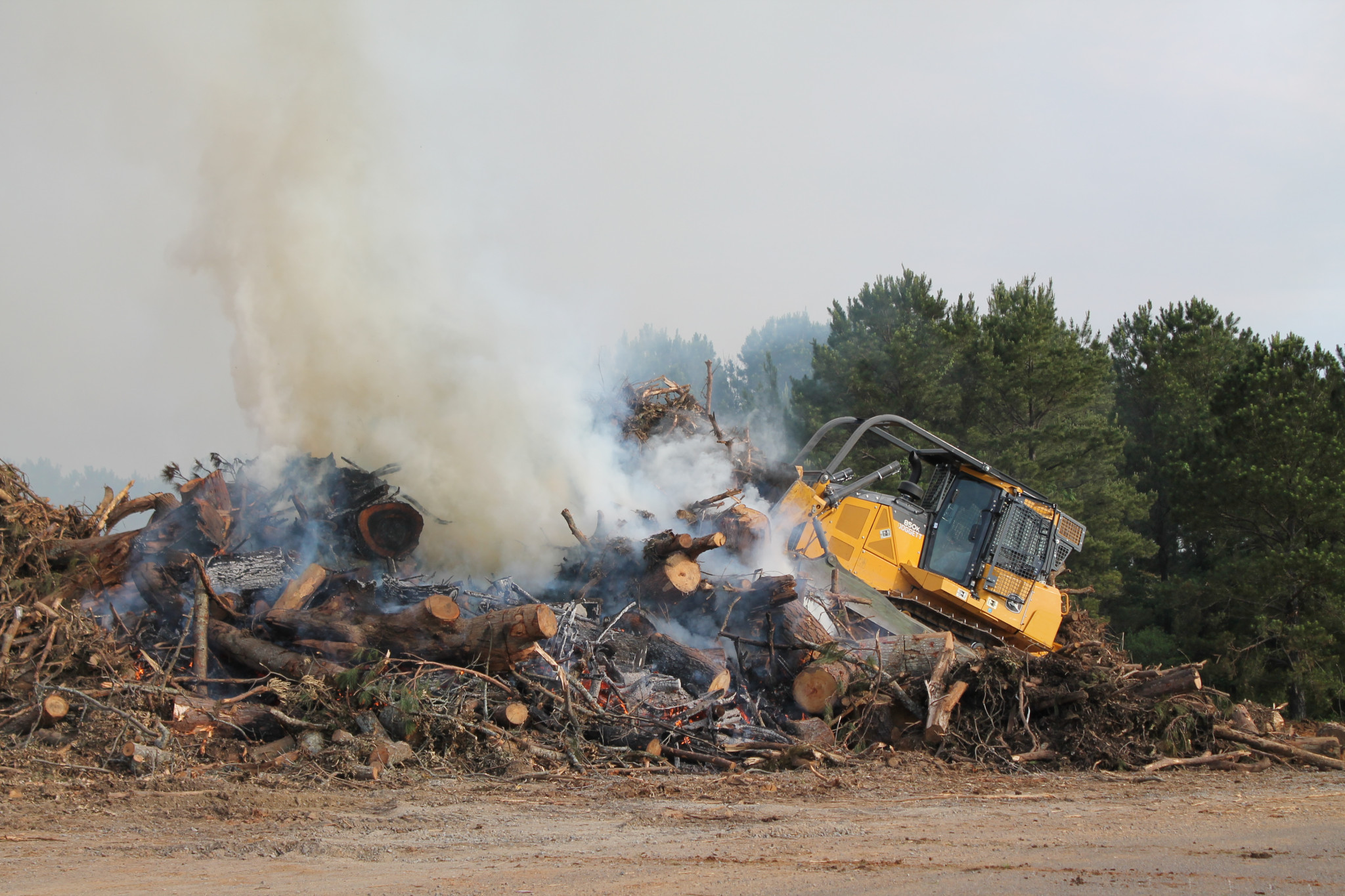 Debris burning at the Lincoln Parish landfill — May 8