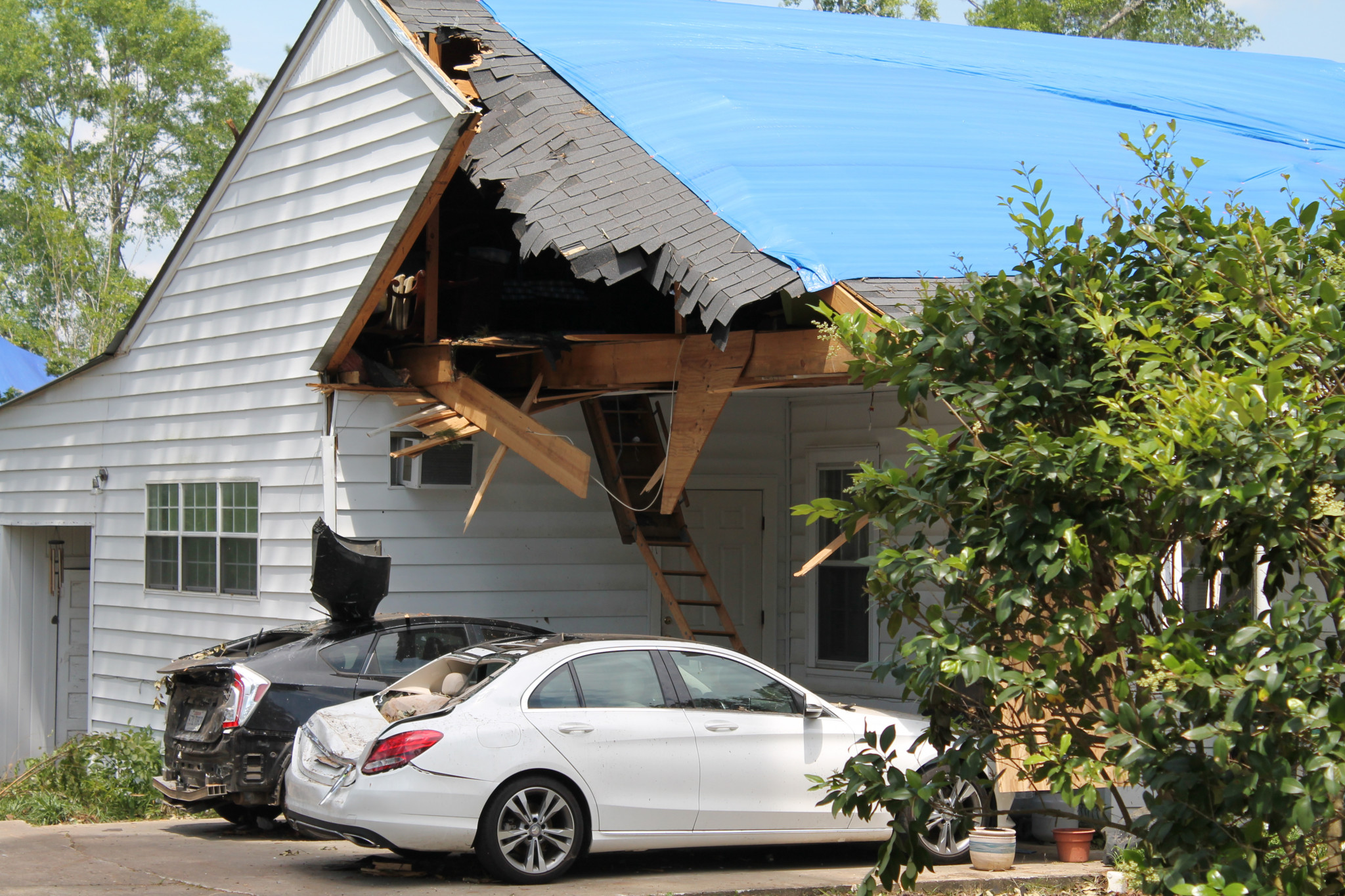 Ruston resident Tyler Storms' Westwood Drive house was heavily damaged by the 2019 tornado.