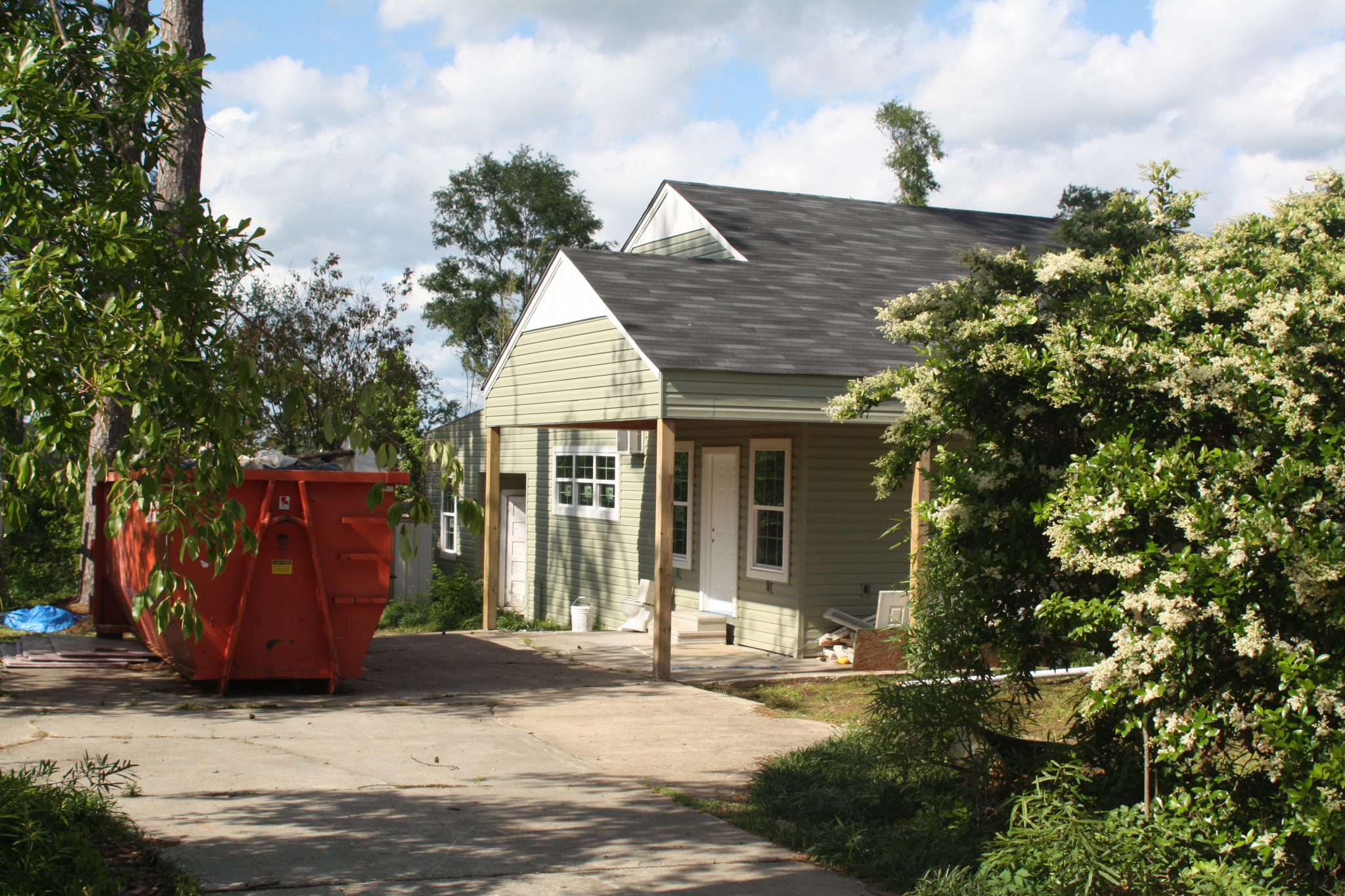 The same Westwood Drive house as it stands now while renovations continue.