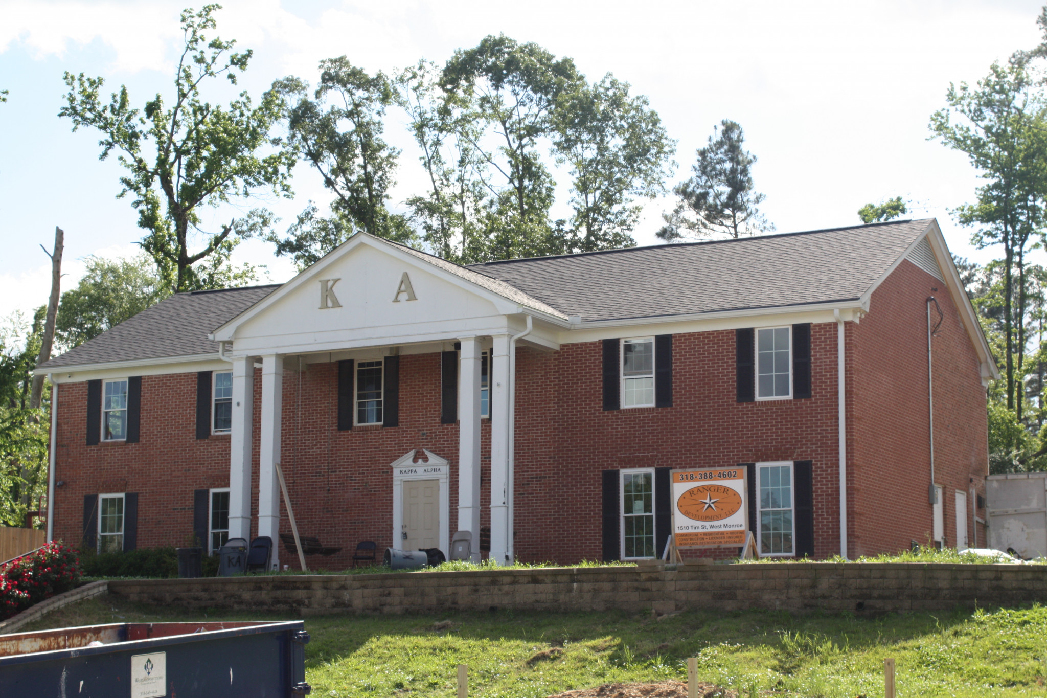 The Kappa Alpha house as it stands now.