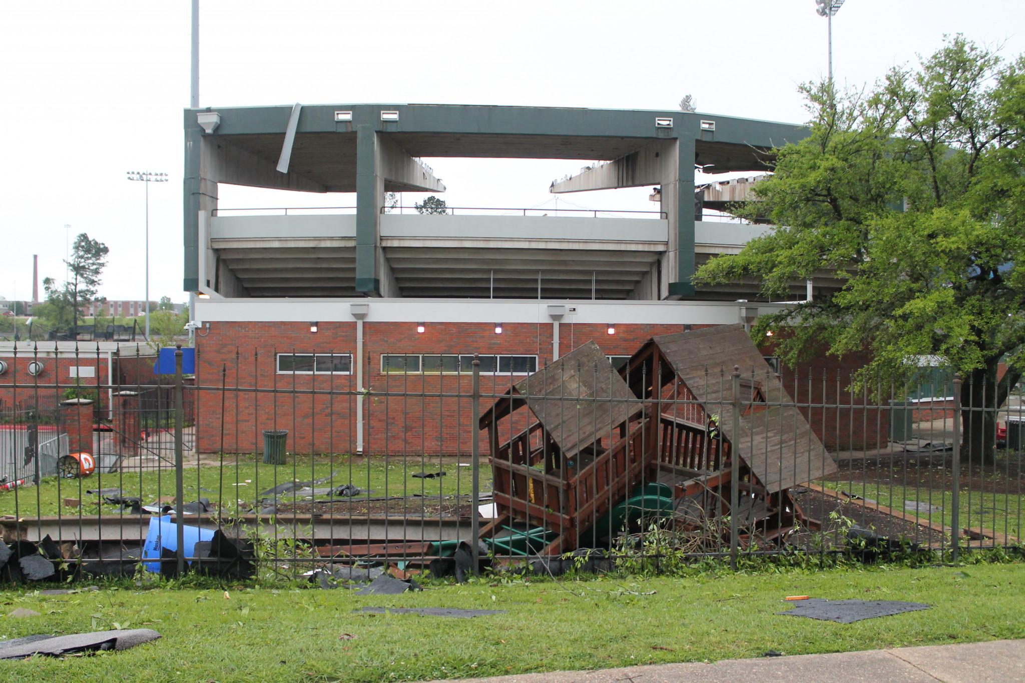 Outside the Louisiana Tech baseball field — April 25