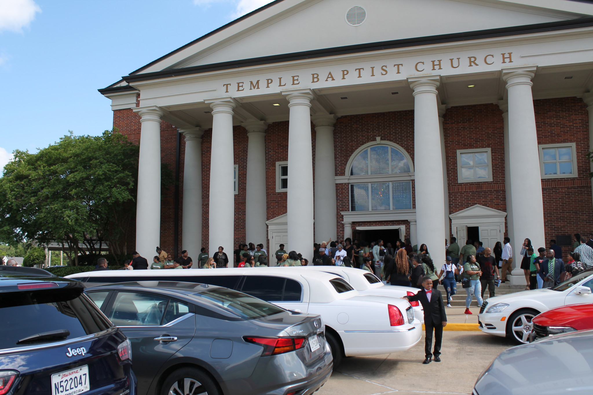 Part of the turnout to Kendra Butler and Remington Butler's funeral, who died during the April 25 tornado.