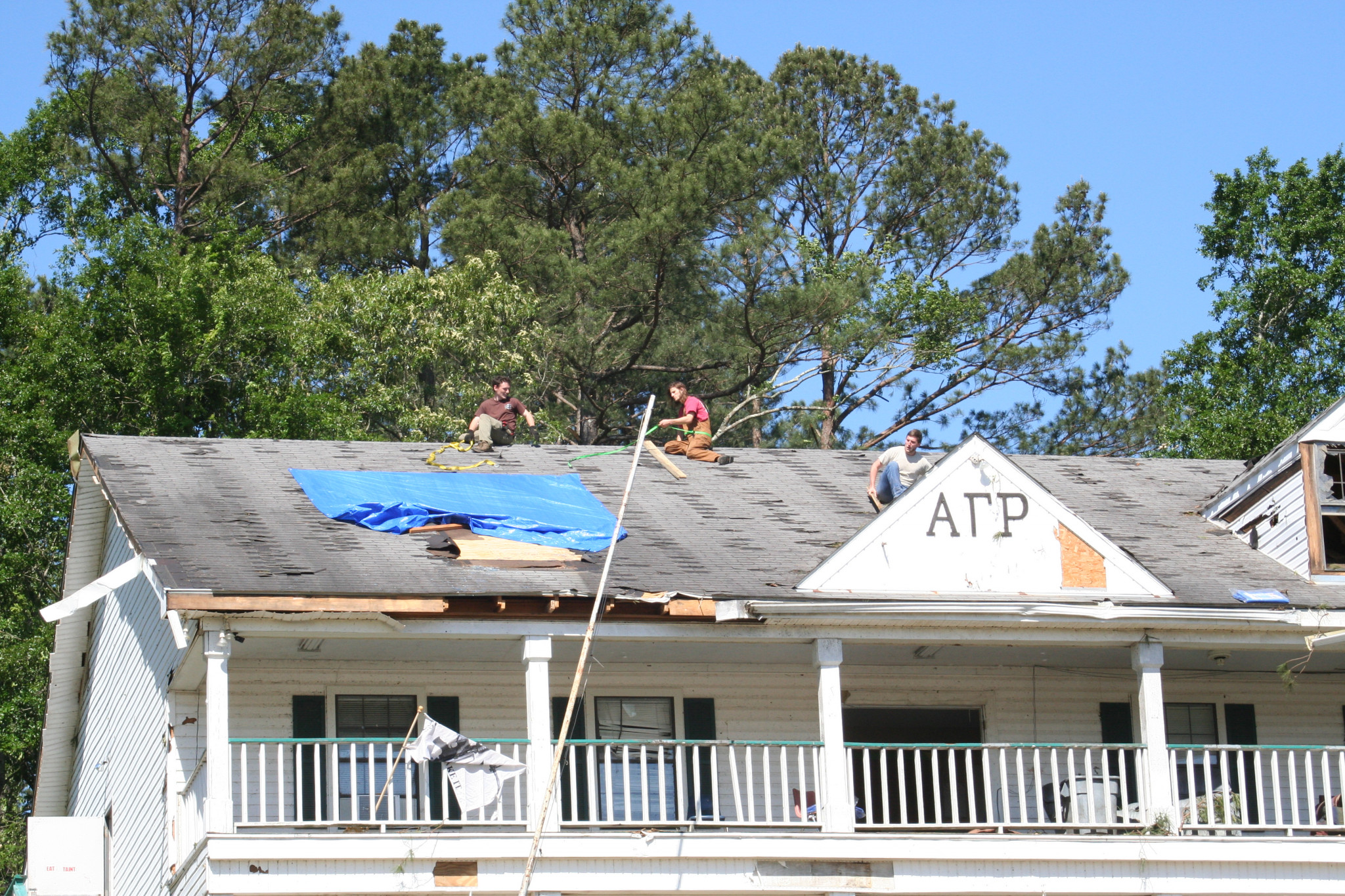 Alpha Gamma Rho fraternity house — April 26