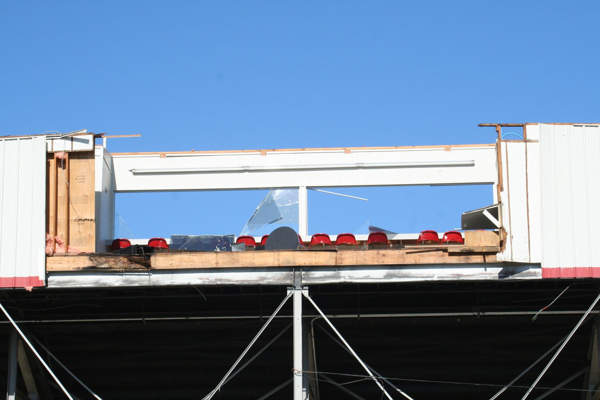 Ruston High School stadium press box — April 26