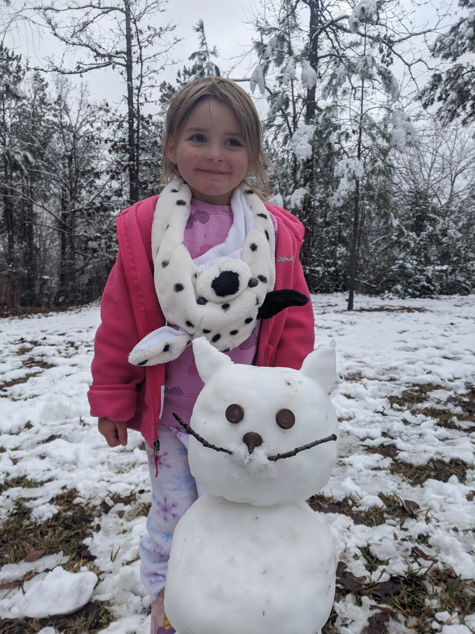 Addilyn Blakely and her snow kitty