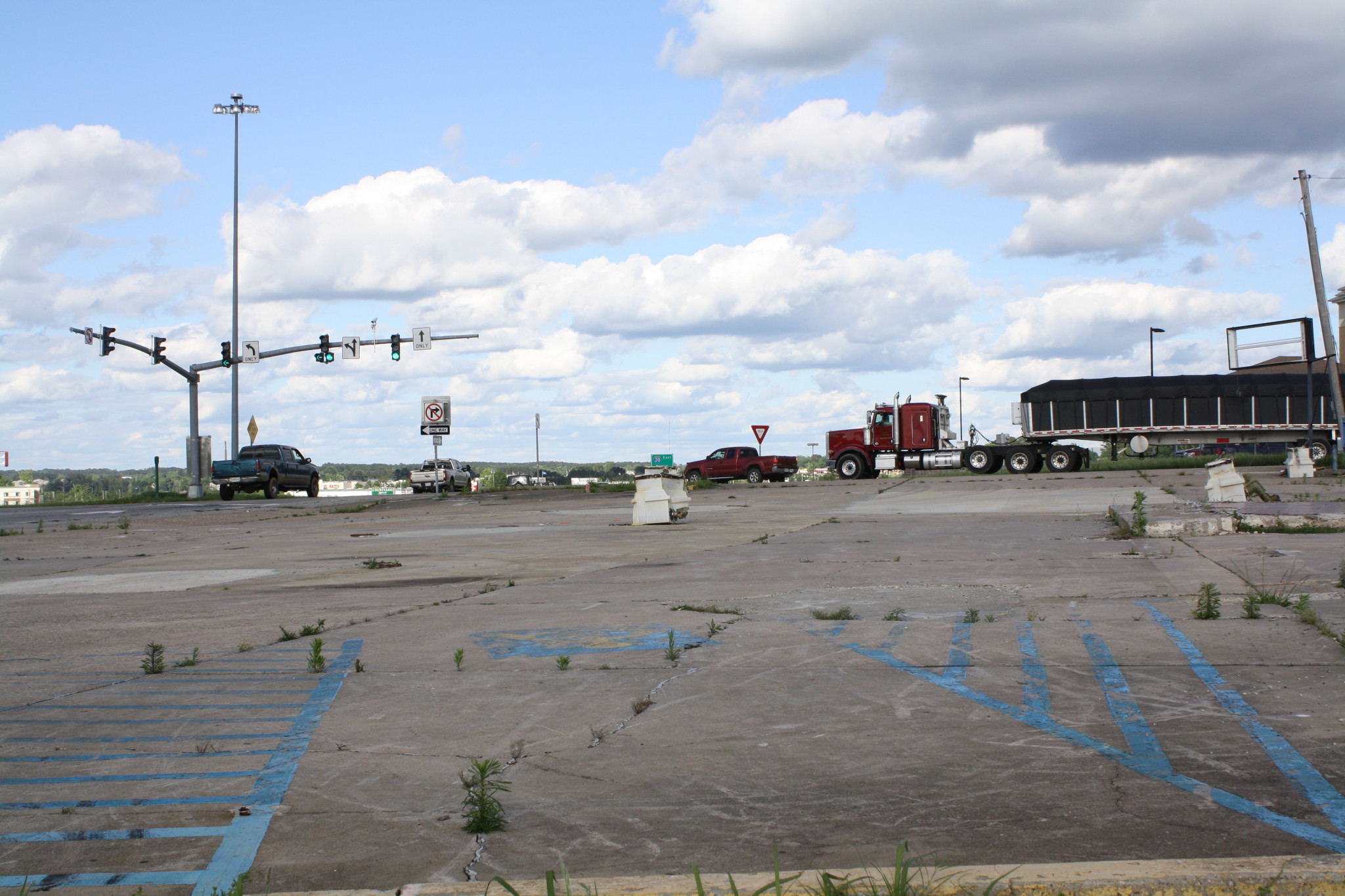 The current state of the empty lot where the Pow-Wow once stood.