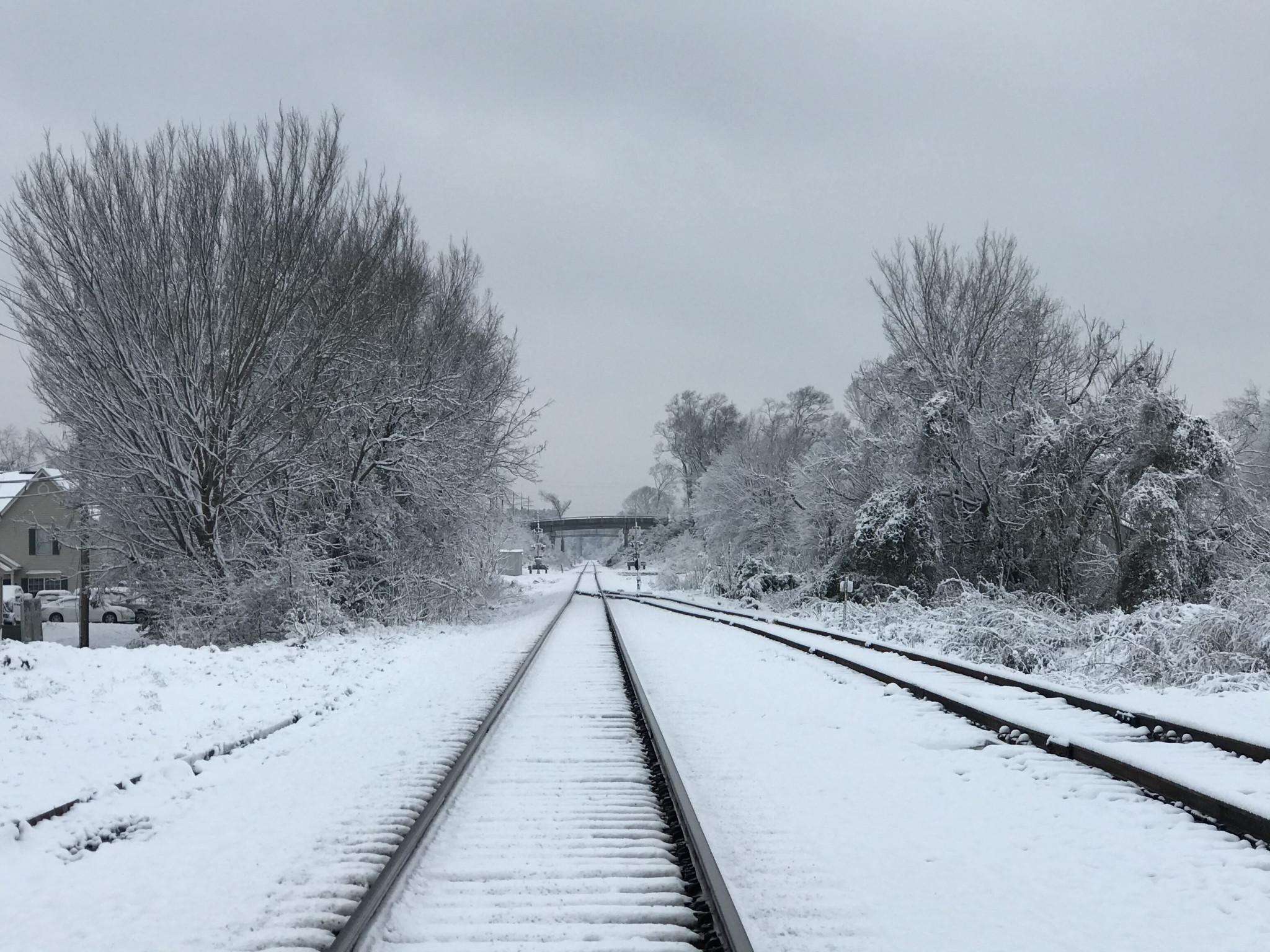 A look down the train tracks near Monroe Street - Leader photo by Caleb Daniel
