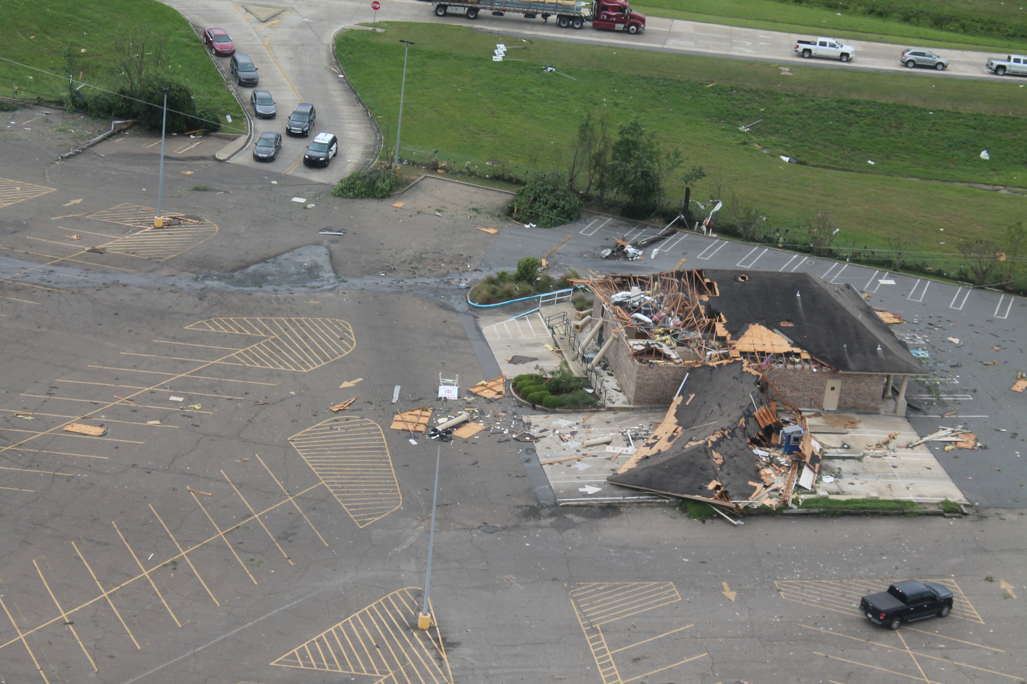 Aerial view of Chase Bank north of I-20 — April 25