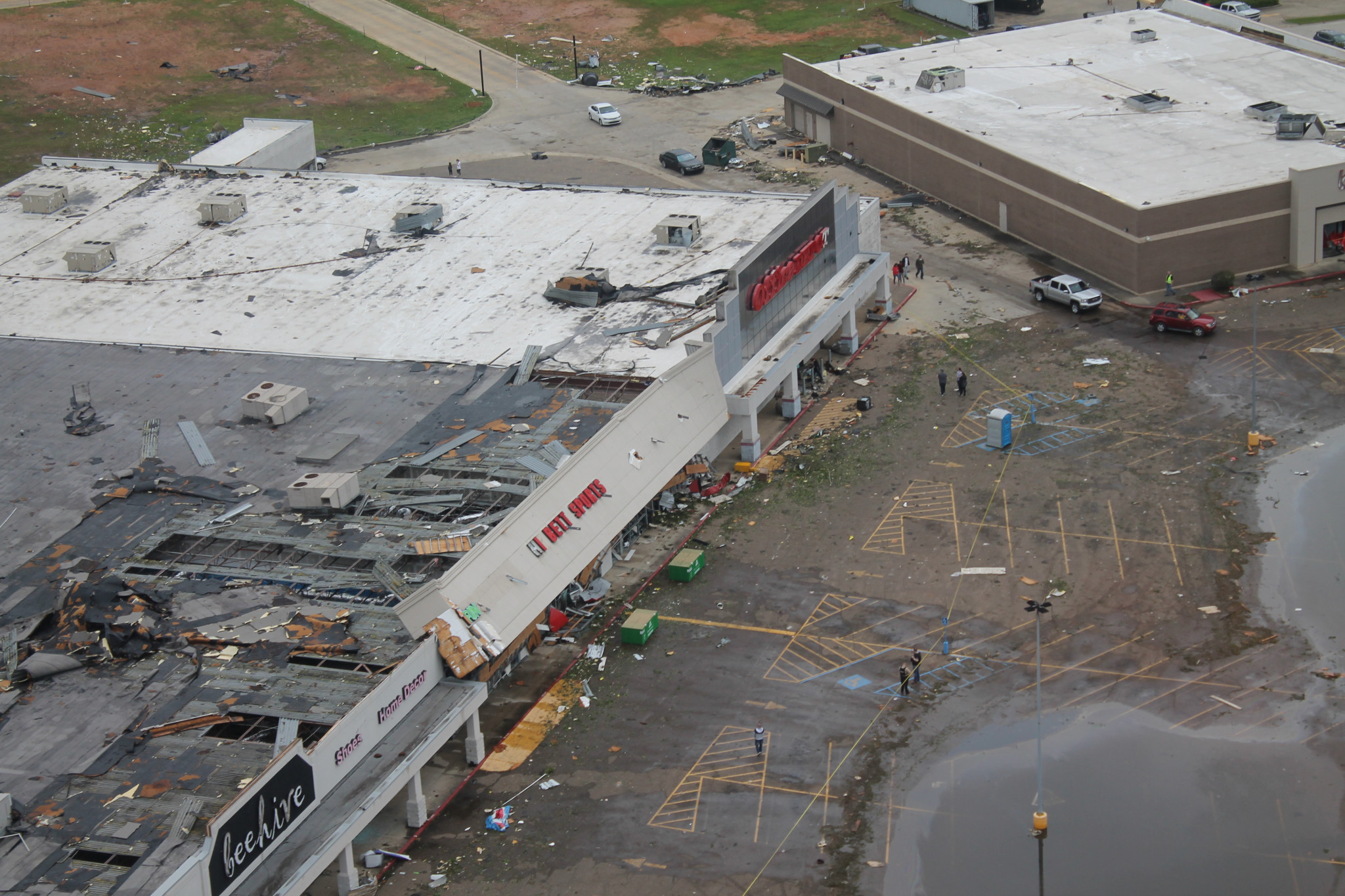 Aerial view of Hibbett Sports — April 25