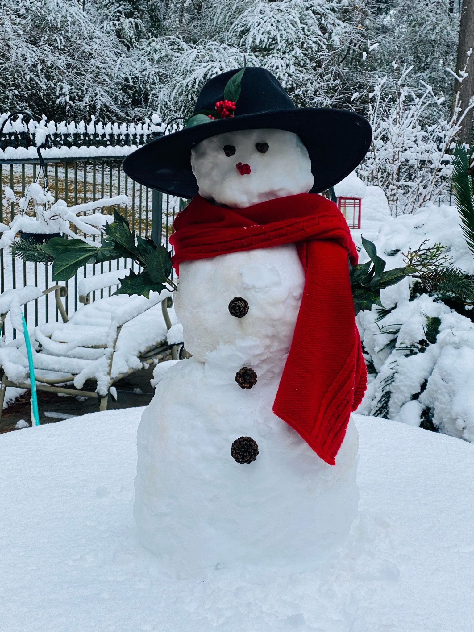 A snowman outfit by Kacee Loe