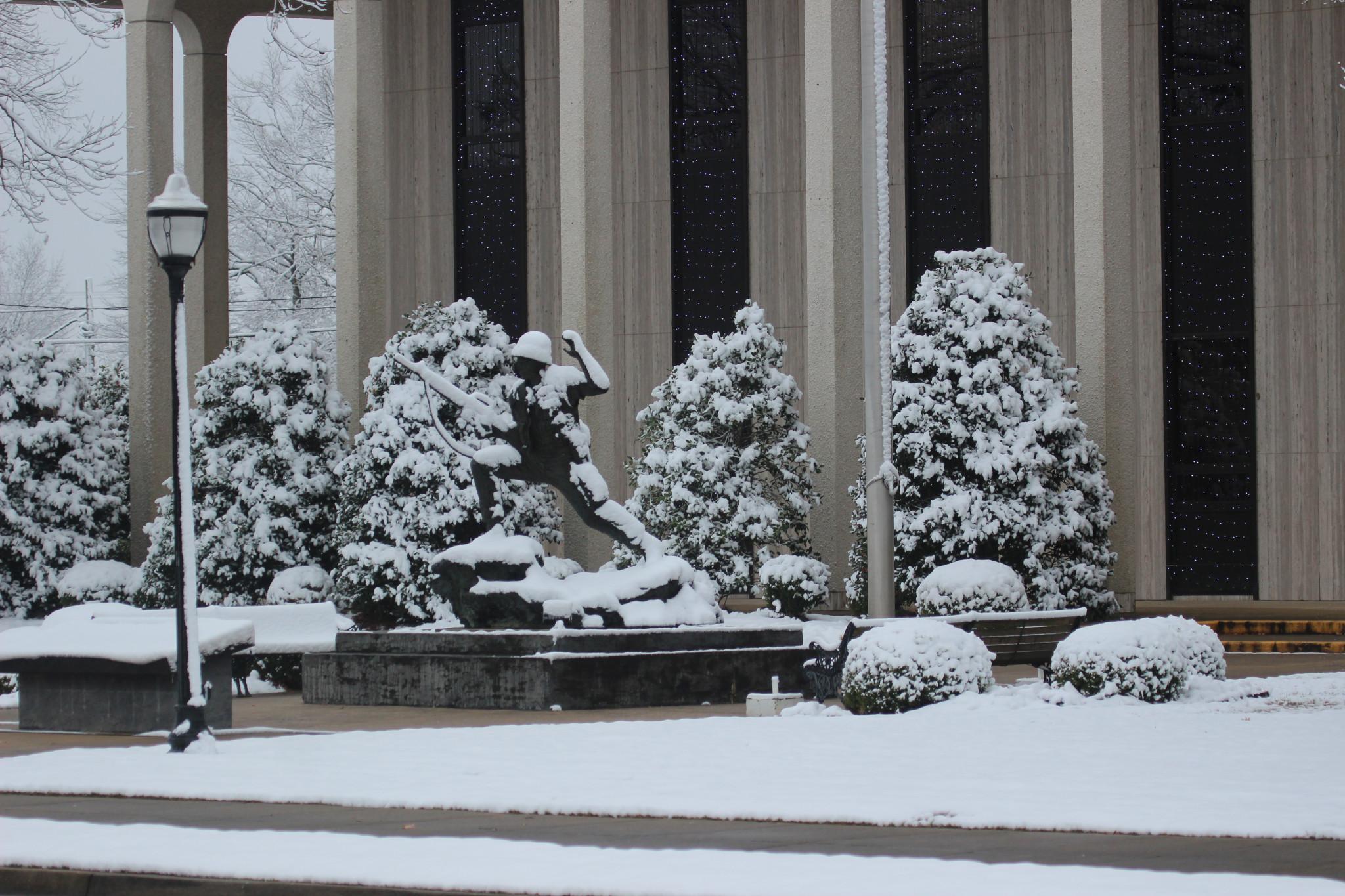 The POW-MIA statue at Ruston City Hall - Leader photo by T. Scott Boatright